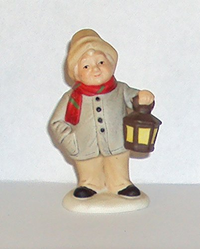 1992 Geo Z Lefton 00668 Colonial Village Mr Hobbs Holding Lamp Figurine