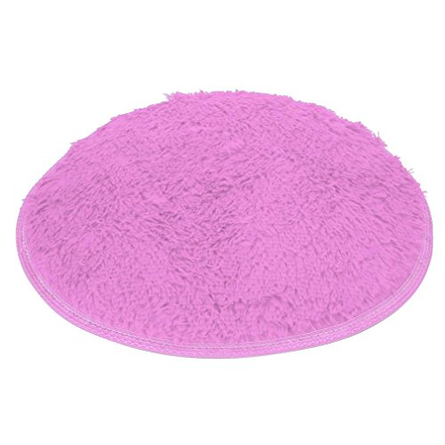 Vibola Soft Bath Bedroom Floor Shower Round Mat Rug Non-slip Mat 40cm (Purple)
