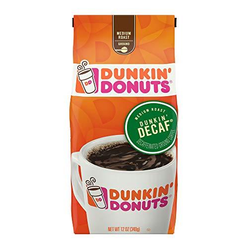 Dunkin' Donuts Decaf Ground Coffee, Medium Roast, 20 - Donuts Dunkin Coffee Decaf