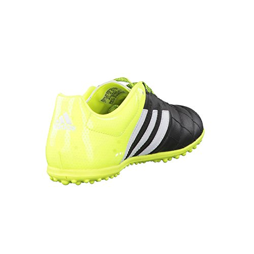 adidas ACE 15.3 TF J Leather - Botas para niño Negro / Blanco / Amarillo