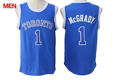 Mens Brand New 2016 New Jersey, Toronto Raptors #1 Tracy McGrady Blue XXL