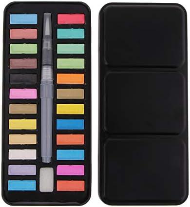 24色パレット 水彩 ブラシ パレット フィス水筆ペン 描画用 ウオーターブラシ 水彩画用筆 水彩