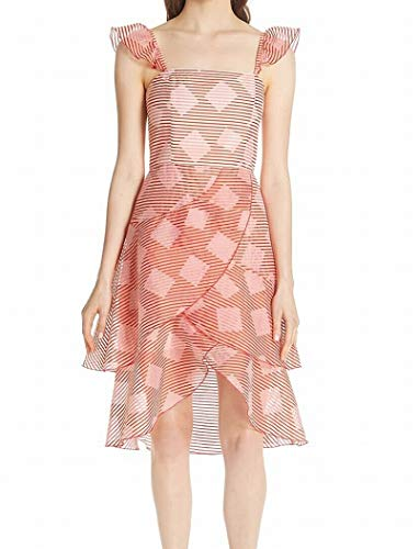 alice + olivia Waterfall Ruffle Women's A-Line Tulip Dress Pink 4