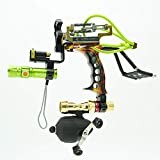 HBG Powerful Fishing Slingshot Kit, Arrows and Ammo 2 in 1 Shooting Slingshot, Archery Professional Adjustable Fishing Set with Arrow Brush,Fishing Reel,Fishing Reel Rack,Flashlight,4Pcs Rubber Bands