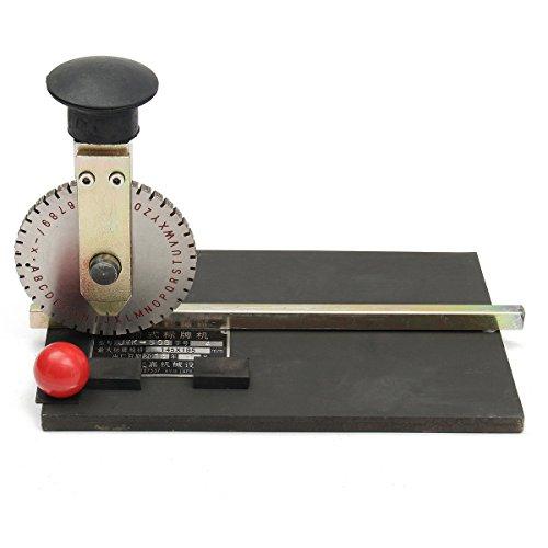 Manual de etiqueta del metal de la máquina de estampación de caracteres alfanuméricos impresora