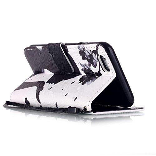 Pour iphone 6 Plus / 6S Plus (5.5inch) Portefeuille Coque Etui, Ougger(TM) Facile Fille [Dragonne] Durable PU Cuir Bourse Flip Rabat Fente Carte Stand Magnétique Fermeture Protecteur Housse Coque Etui