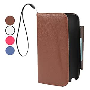 xiao PU Leather Case with Wallet and Stand for Samsung Galaxy Note 2 N7100 (Assorted Colors) , White