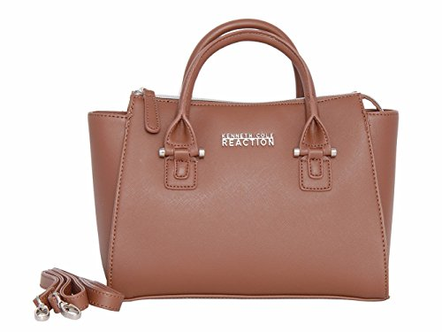 - Kenneth Cole Reaction KN1550 Magnolia Handbag Top Handle Messenger Crossbody Shoulder Bag (EARTH)