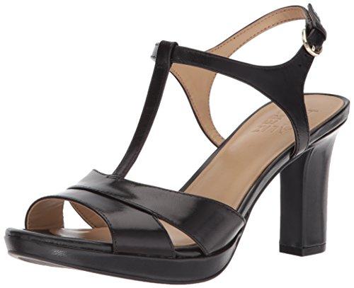 Naturalizer Women's FINN Heeled Sandal, Black, 10 M US