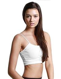 NiKiBiKi Sports Bra Bralette Top Black/ White/ Stone 3 PK With Free Bandeau