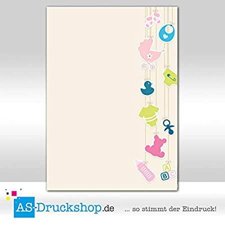 Faltkarte/Doppelkarte Blumen 25 Stück/DIN A5 Blumenrand