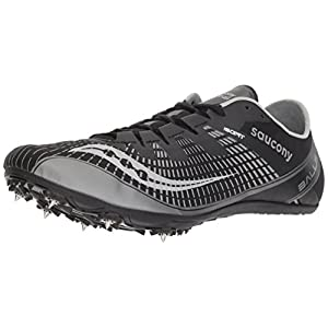Saucony Men's Ballista 2 Track and Field Shoe, Black/Silver, 12 Medium US