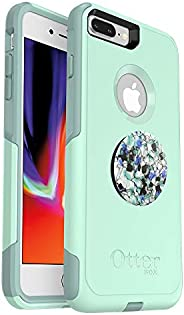 Bundle: OtterBox Commuter Series Case for iPhone 8 Plus & iPhone 7 Plus (ONLY) – (Ocean Way) + PopSockets
