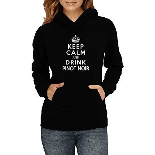 Idakoos Keep Calm and Drink Pinot Noir Women Hoodie L