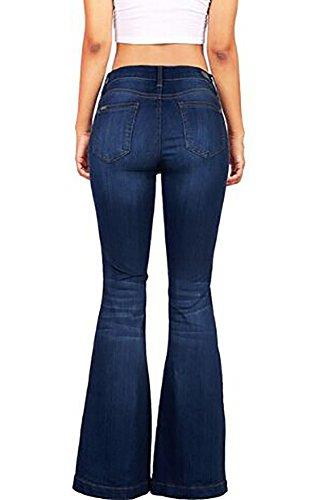 Denim Bell Bottom Jeans - 4