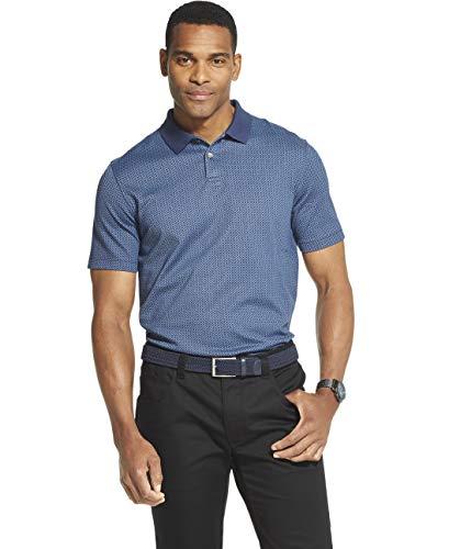 - Van Heusen Men's Flex Short Sleeve Stretch Print Polo Shirt, Barge, X-Large