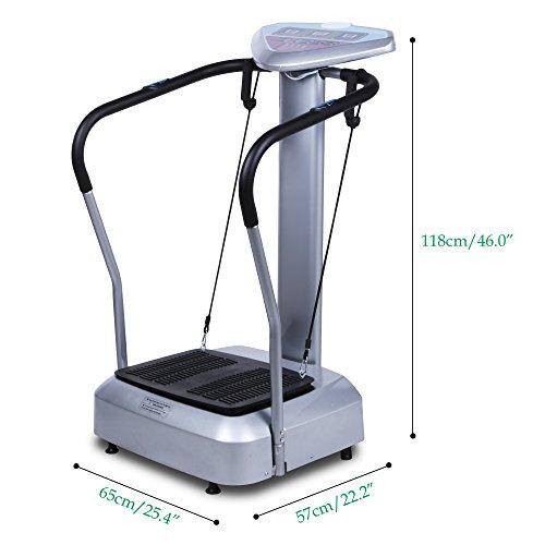Plataformas Vibratorias Trainer Maquina de Vibración Consola con Pantalla para Hacer Ejercicios Musculares Fitness Cardio Perder Peso para Casa Interior, ...