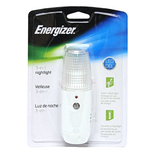 Energizer 10230 - White LED 3 In 1 Sensor Night Light Flashlight (ENLPLMF) - Energizer Led Nightlight - Amazon.com