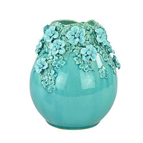 Vase Ceramic Handmade Porcelain Creative Flower Arrangement Home Decoration Decoration Simple Modern DELICATEWNN (Size : A)