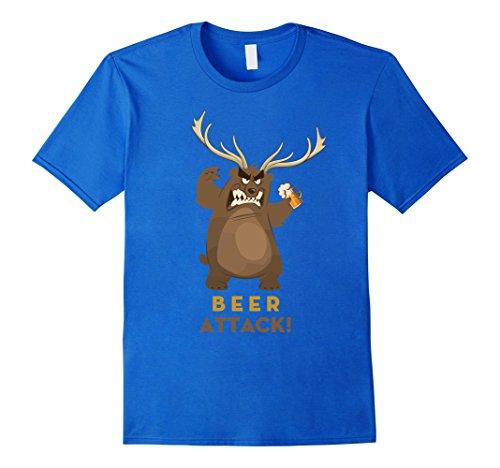 Mens Beer Bear T-Shirt Tedy Deer Mug Glasses Stein Big Gummy Papa Small Royal (Gummy Bear Costume For Babies)