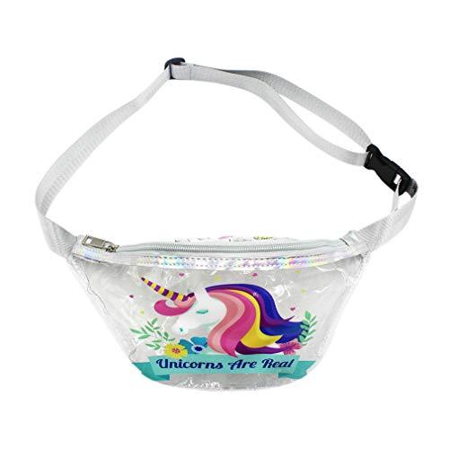 Women Clear Fanny Pack Waist Bag Cute Cartoon Festival Rave Bum Bags Travel Belt -