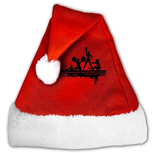 FQWEDY I Must Go My Gym Needs Me Unisex-Adult's Santa Hat, Velvet Christmas Festival -