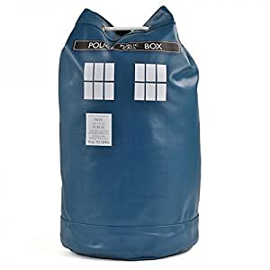 Dr Doctor Who Duffle Bag Tardis Retro Blue Sack Faux Leather School Rucksack