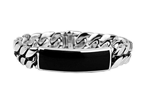 david-yurman-145-mm-85-stsilver-inlay-curb-chain-onyx-id-bracelet-new-3b