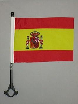 AZ FLAG Bandera de Bici de ESPAÑA 21x14cm - BANDERINA de Bicicleta ESPAÑOLA 14 x 21 cm: Amazon.es: Jardín