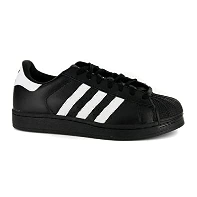 newest d0a0f 4492a New Mens Adidas Superstar 2 Black White Leather Trainers UK 10