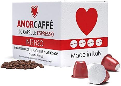 Amorcaffe 100 Cápsulas de Café Compatibles con Máquinas Nespresso ...