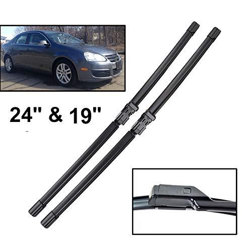 "Scirocco Vw Wiper - Xukey 24"" 19"" Front Windshield Wiper Blades Fit For VW Jetta 5 Vento MK5 Scirocco Touran Eos (Set of 2)"