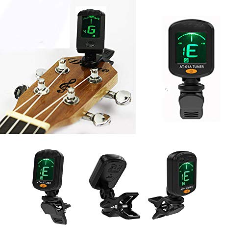 Swovo Digital Guitar Tuner, Clip-on Tuner for Guitar Electronic Chromatic Tuning 360 degree for Acoustic Guitar, Electric Guitar, Bass, Ukulele, Violin from Unetox