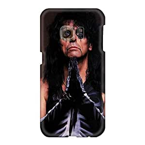 Best Hard Phone Case For Samsung Galaxy S6 (coP14696eJDk) Allow Personal Design Lifelike Alice Cooper Band Image