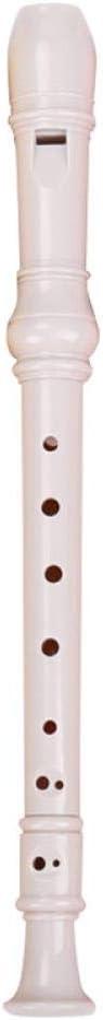 Flauta de pl/ástico para estudiante con 8 agujeros para clarinete de abdominales rosa