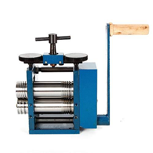 Manual Rolling Mill Machine,3'' Manual Combination Rolling Mill Machine Roller Flat Pattern Sheet Jewelry DIY Tool