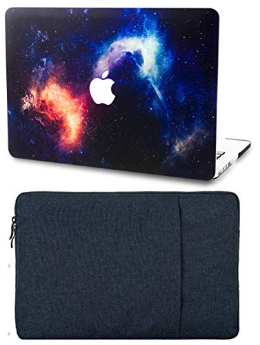 """KECC Laptop Case for MacBook Air 13"""" with Sleeve Plastic Hard Shell Case A1466/A1369 2 in 1 Bundle (Nebula)"""