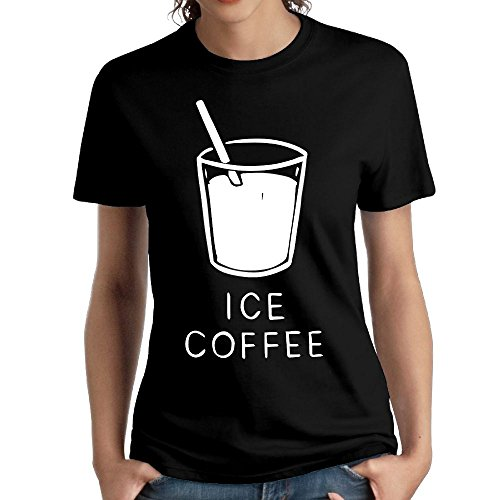 Wxf Womens Ice Coffee Particular Tshirts Black S