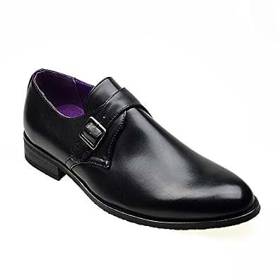 Hombre Nuevo Casual Cuero Negro Elegante Zapatos Con Cordones Estilo Formal TALLA UK 6 7 8 9 10 11 - negro - negro, ante, hombre, 41.5, Negro