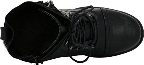 Combat Black Select Bootie Ankle Cambridge Inside Moto Women's Zipper 4gwEwxpq