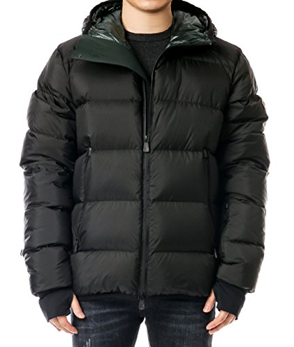 Wiberlux Moncler Hintertux Men's Hooded Logo Patch Detail Goose Down Jac 1 - Moncler Black