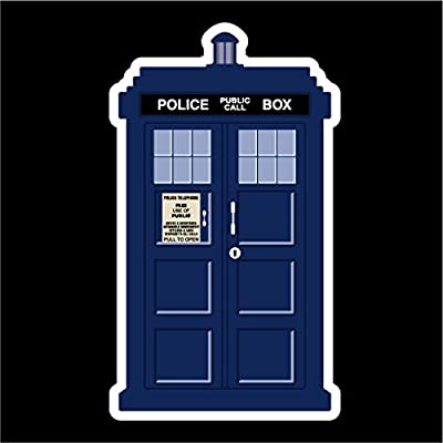 Keen Doctor Who Tardis Vinyl Decal Sticker|Cars Trucks Vans Walls Laptops Cups|Full Color|5.5 X 3 in|KCD774: Automotive