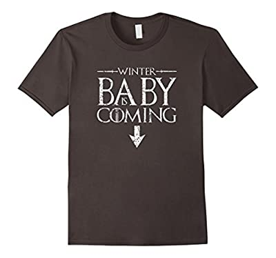 Funny Humor Maternity Shirts pregnant Winter Baby is Coming