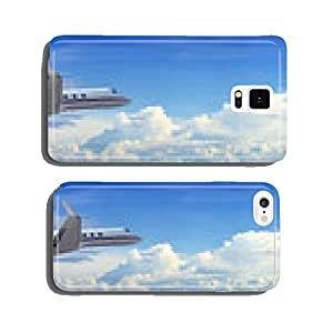 Corporate jet cruising in a cloudy sky cell phone cover case iPhone5