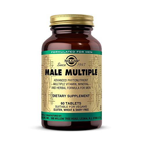 Solgar Male Multiple, 60 Tablets - Multivitamin, Mineral & Herbal Formula for Men - Advanced Phytonutrient - Vegan, Gluten Free, Dairy Free - 20 Servings