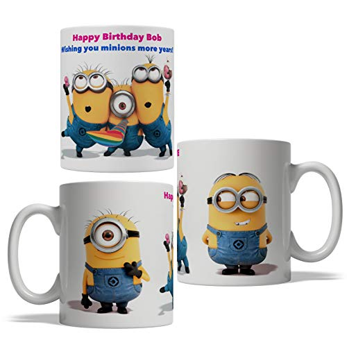 Happy Birthday Minions Coffee Mug Tea Cup 11oz Personalized Mug Best Gift (11oz) -