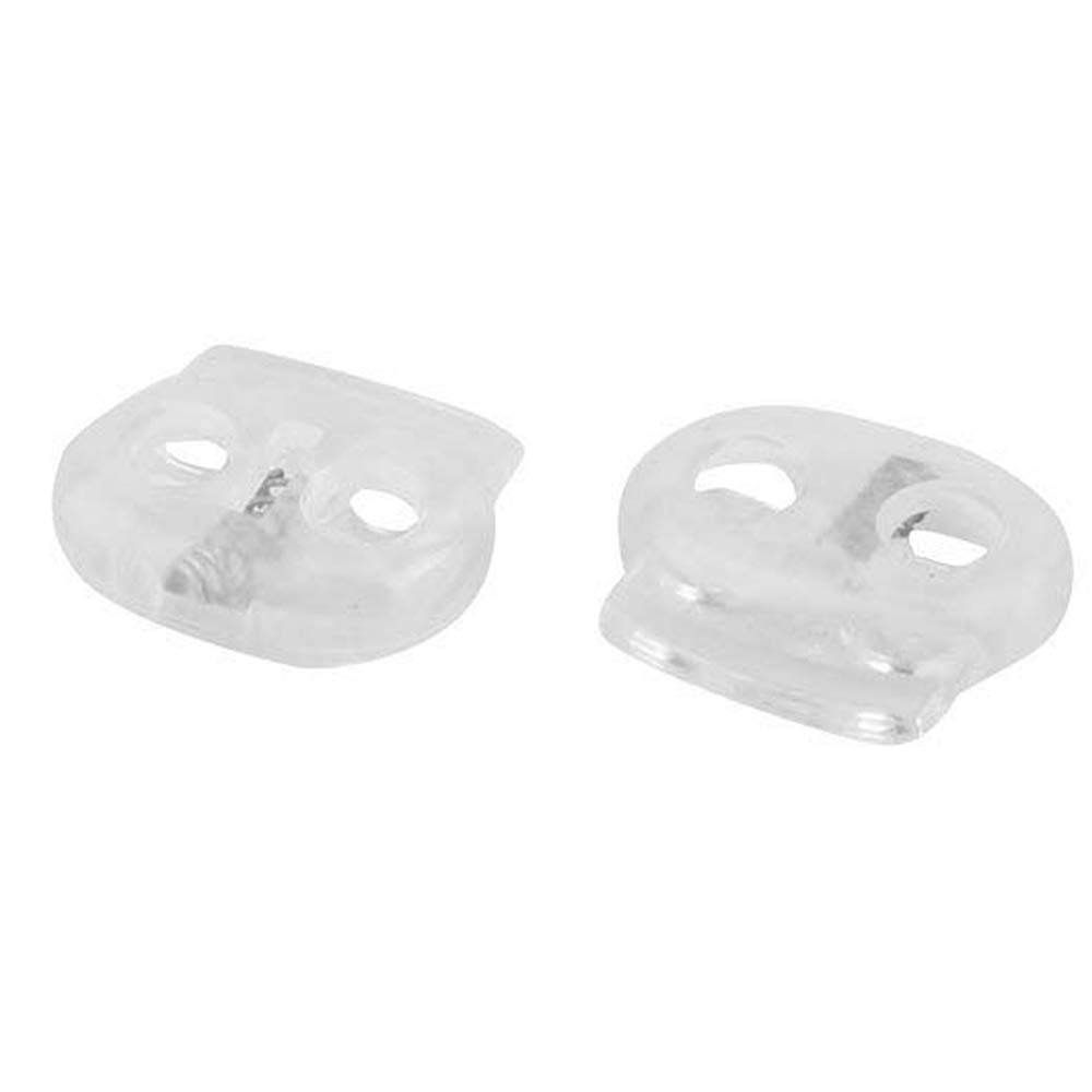 #2 Cyful 30Pcs 4.5mm Hole Dia Plastic Cord Lock End Double Hole Spring Stopper Fastener Slider Toggles End