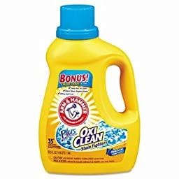 Arm & Hammer 33200-09553 Liquid Laundry Detergent Plus OxiClean, Fresh Scent, 61.25 oz (Pack of 6)