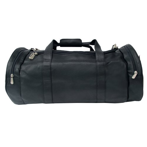 Piel Leather Gym Bag, Black, One Size by Piel Leather
