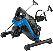 Under Desk Bike Pedal Exerciser - FlexCycle Exercise Bike Stationary Magnetic Cycle with LCD Monitor & Res